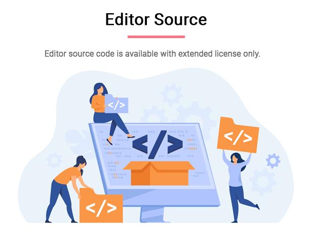 O código-fonte do editor está disponível apenas com licença estendida.